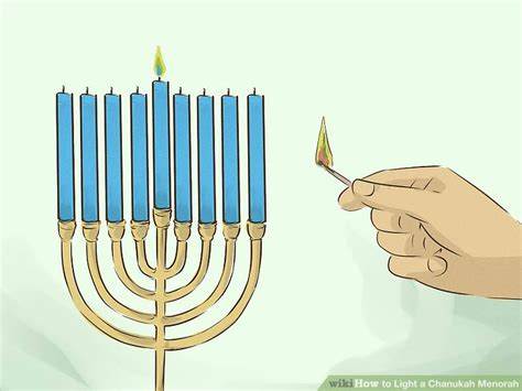how to light a menorah how to light a chanukah menorah 15 steps with pictures