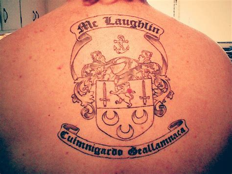 henna tattoos raleigh mclaughlin family crest done at warlocks in raleigh