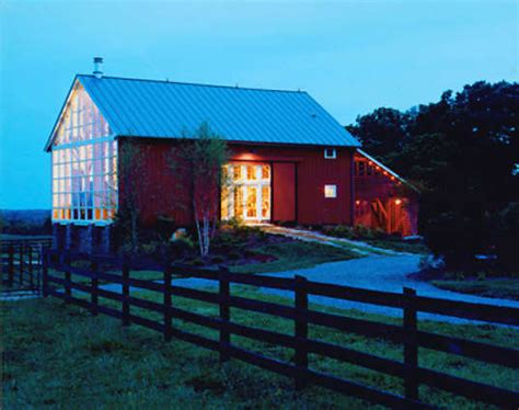 dairy barn converted into an eco home filled with