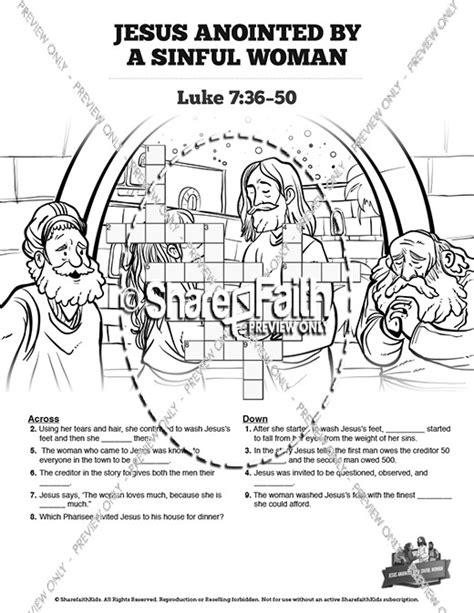 Luke 7 Coloring Page by Anoints Jesus 8 Found