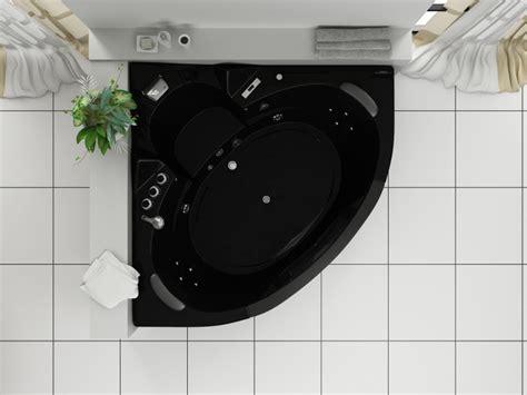 vasca da bagno nera vasca idromassaggio 152x152cm a 12 idrogetti per 2 persone pr
