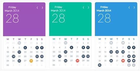 calendar layout css flat ui calendar widget for calendarize it calendarize it