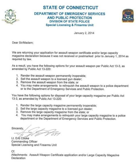 Reference Letter Format For Tnvat Registration Ct Those Who Missed Gun Registration Deadline Getting Letters From State