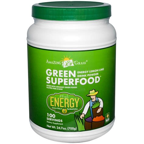 green drink amazing grass green superfood energy lemon lime powder