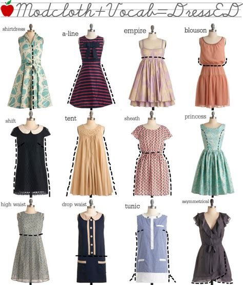 different dress types styles dress types terms names styles infographics digital citizen