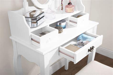 lumberton dressing table set dresser makeup desk 3 drawers