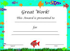 Kid Certificate Templates Free Printable by Certificate Template For Free Printable Certificate