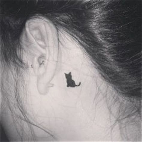 cat ear tattoo black cats cat tattoos and cats on