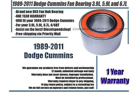 dodge cummins fan hub bearing dodge ram 2500 3500 diesel fan hub bearing 1989 2011