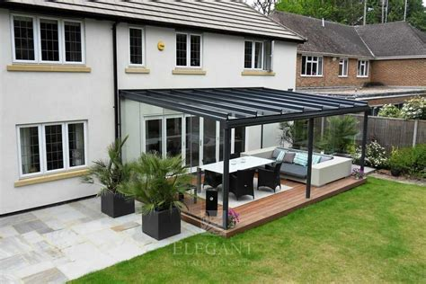 glass veranda uk glass veranda in hshire with fixed glass sides