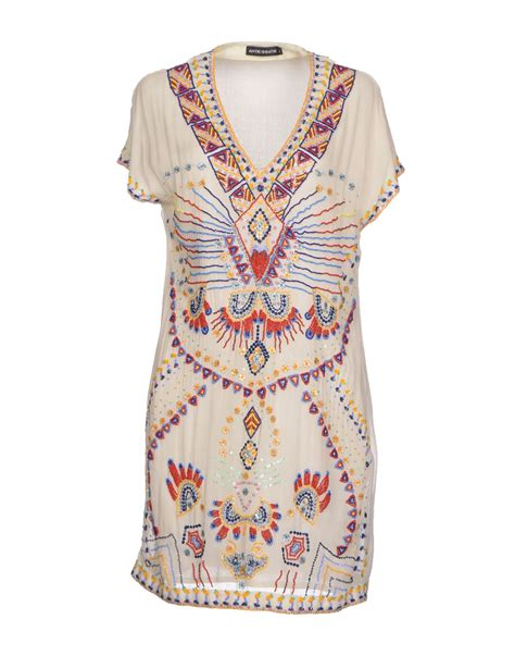 Batik Dress antik batik dress in white ivory lyst