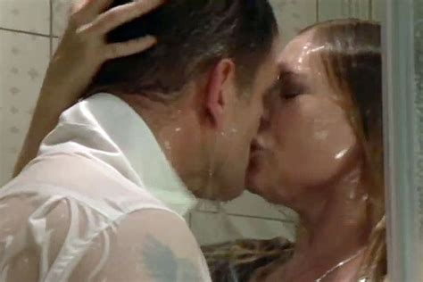 Steamy In The Shower by Eastenders Fans Flustered By Ronnie And S Steamy