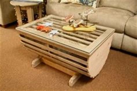 lobster trap coffee table wine rack   maine