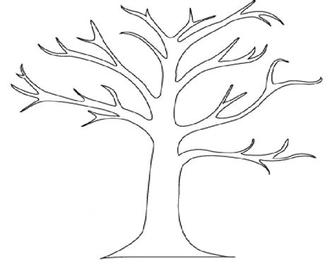 tree pattern without leaves coloring page tree outline of trees az coloring pages