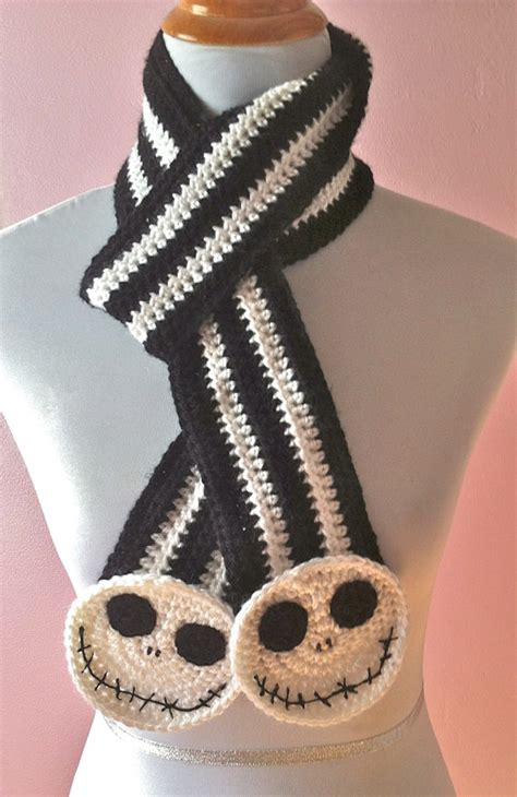 knitting pattern jack skellington jack skellington scarf jack the pumpkin king scarf by