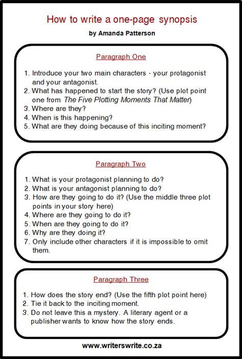 write   page synopsis writers write