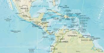 Central America Map Physical by Central America Physical Mapsof Net