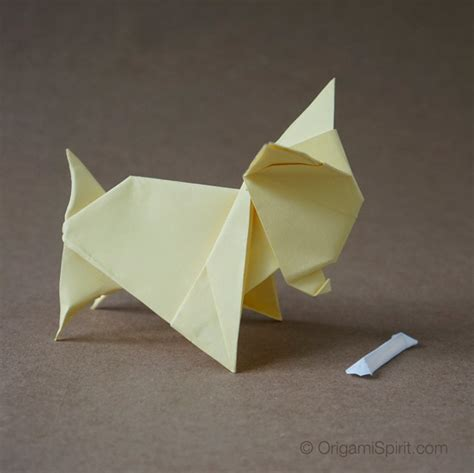 Origami Dogs - origami and origami bone