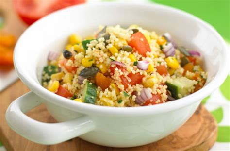 easy salad recipe easy couscous salad recipe goodtoknow