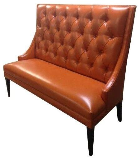 leather banquette seating custom orange faux leather banquette transitional