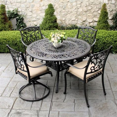 cast iron patio furniture sets furniture cool cast iron patio set table chairs garden