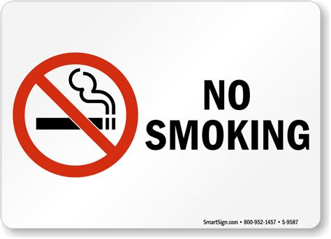no smoking sign large no smoking labels no smoking sku s 9587