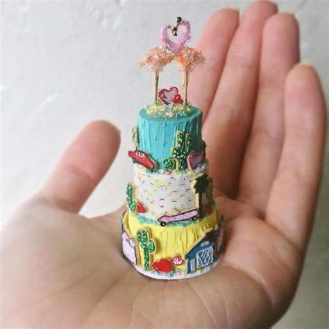 miniature cakes artist sculpts clay miniature cakes that you can hold in