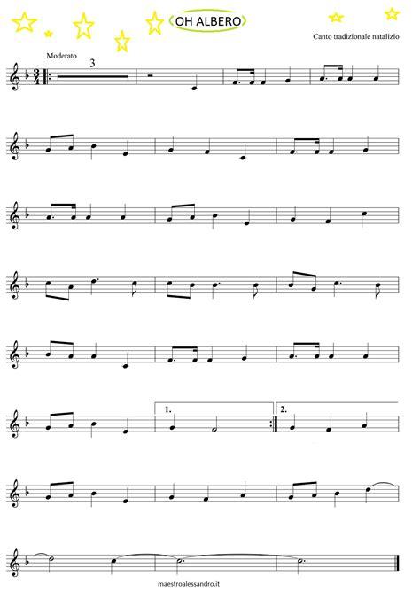 testo per fare un albero oh albero spartito e base da suonare musica a scuola