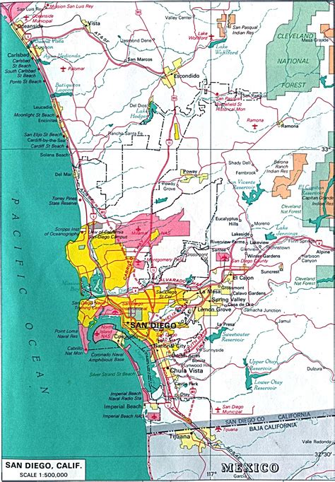 map of san diego ca twelfth bough by potato
