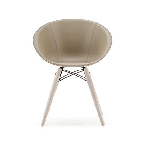 chaise pedrali chaise design bois cuir gliss 904 f pedrali