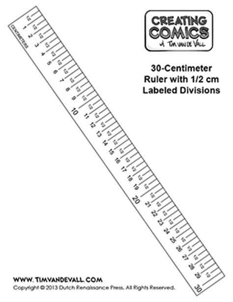 printable ruler mm only free centimeter ruler template creating comics