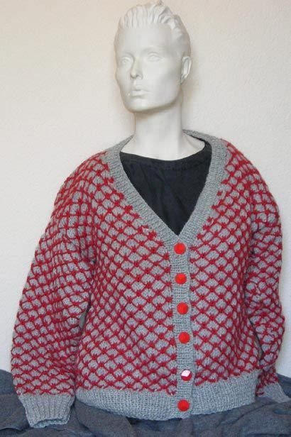 Sweater Intarsia Skylin sweater knitting patterns in two colours sweater jacket