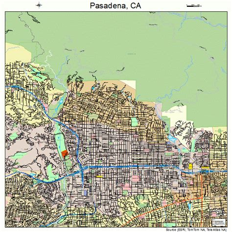 map of pasadena california pasadena california map 0656000