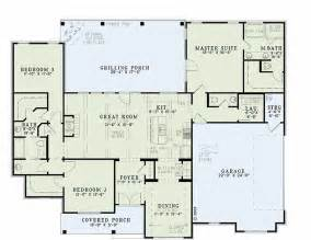 1 Bedroom 1 Bath Traditional Style House Plan 3 Beds 2 50 Baths 1960 Sq