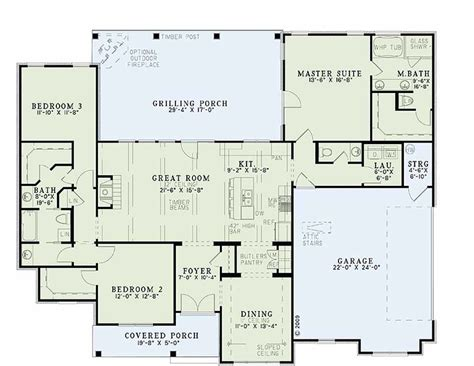 5 sq feet traditional style house plan 3 beds 2 5 baths 1960 sq ft