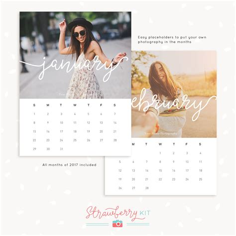 photography calendar layout 2017 photography calendar template for photographers