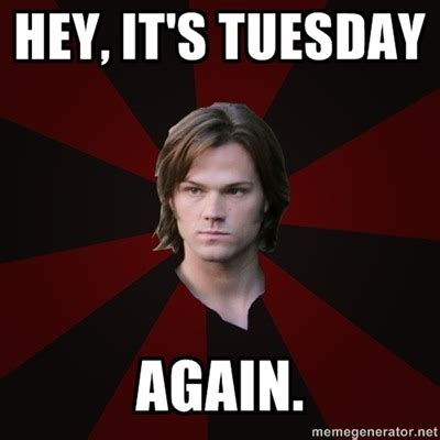 Meme Sam - supernatural tuesday tumblr