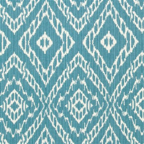Ikat Upholstery Fabric By The Yard by Turquoise Ikat Fabric By The Yard Blue White By