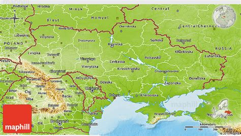 physical map of ukraine physical 3d map of ukraine
