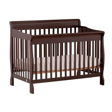 Fixed Side Convertible Crib 4 In 1 Fixed Side Convertible Crib In Espresso 04587 459