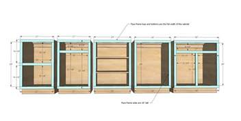 Kitchen Cabinet Plan White Frame Base Kitchen Cabinet Carcass Diy Projects