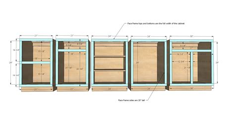 kitchen cabinets plans ana white face frame base kitchen cabinet carcass diy