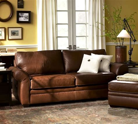 leather couch pottery barn pearce leather sofa pottery barn