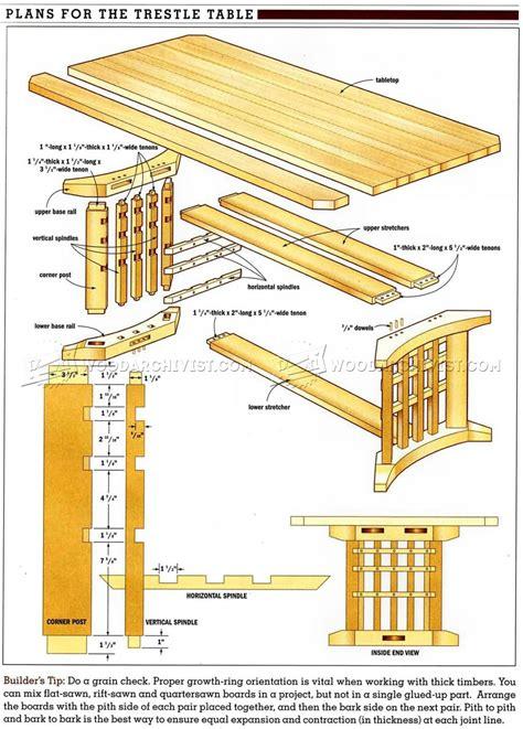 trestle dining room table plans trestle table plans woodarchivist