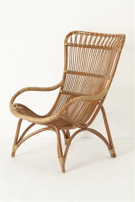 great rattan chair a matching ottoman is available