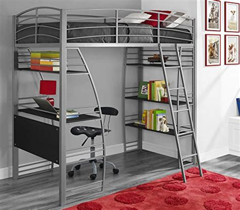 Bunk Bed Studio Dhp Studio Loft Bunk Bed Desk And Bookcase With Metal Frame