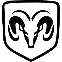 black dodge icon  black car logo icons
