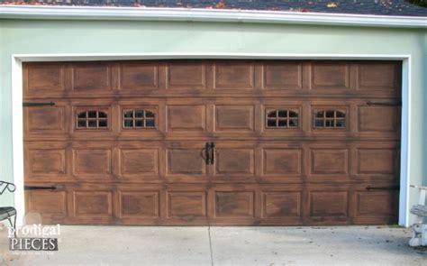 garage door pieces faux wood garage door tutorial prodigal pieces