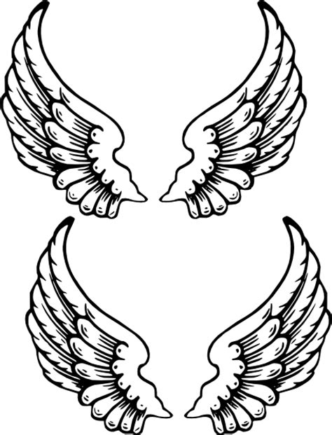angel wings stencil cliparts co