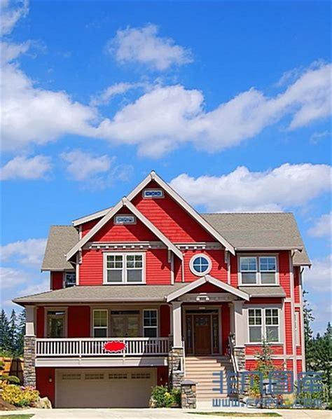国外舒适红色外墙房子高清图片下载 非凡图库